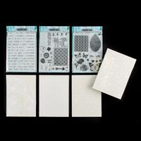 Lynette Jasper Pretty Gets Gritty A5 Stamp & Stencil Collection --022500