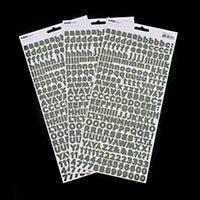 Kaisercraft Set of 3 Alpha Sticker Sheets - Green-023186