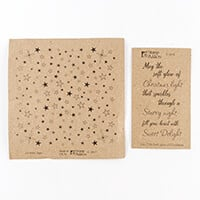Stamp Addicts Stars Background & Soft Glow Cling Mounted Rubber S-023767