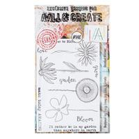 AALL & Create Stamp Set - Doodled Blooms - 11 Stamps-024374
