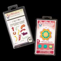 Spellbinders 2 x Die Sets - You Are Here & Dahlia - 16 Dies Total-027657