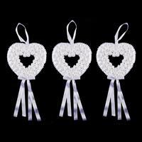 Set of 3 Hanging Diamante Hearts - 27x27cm-028516