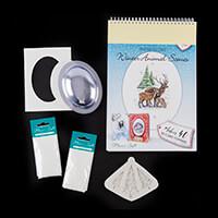 Katy Sue Snow Globe Winter Animal Scenes Paperpad, Flower Soft Ki-028772