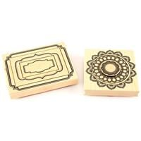 Momenta 2 x Nested Stamp Sets - Modern Frame and Round Doilies - -029713
