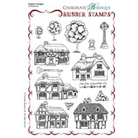 Chocolate Baroque English Cottages A5 Stamp Sheet - Includes 14 I-033712