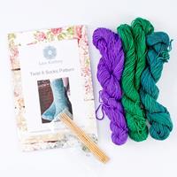 The Lace Knittery Twist It Sock It Kit-034857
