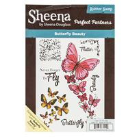 Sheena Perfect Partners A5 Stamp Set - Butterfly Beauty - 8 Stamp-035836