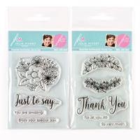Julie Hickey Designs Just to Say and Thank You A7 Stamp Sets - 9 -036638