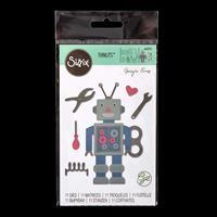 Sizzix® Thinlits Set of 11 Dies - 50's Robot by Georgie Evans-036643