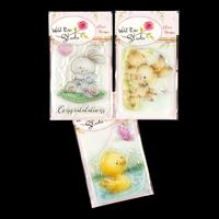 Wild Rose Studio 3 x A7 Stamp Sets - Spring Bunnies, Baby Bunny a-036856