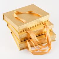 Craft Buddy Set of 3 Gold Gift Boxes With Handle - 27cm x 20cm-037682