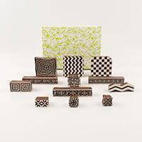 Colouricious Borders & Patterns - 12 Wooden Blocks-039421