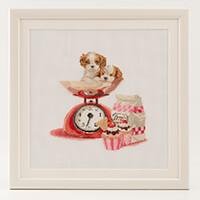 Thea Gouverneur Cute Animals Aida Cross Stitch Kit - 31cm x 30cm-039845