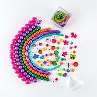 Applicraft Beads & Bits Bundle - Wooden Beads, Embellishments, St-040387