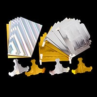 Bookatrix 8 x Scalloped Boxes - 4 Gold & 4 Silver with Stands & A-041756