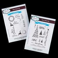 Creative Expressions 2 x Stamp Sets - Elegant Stars & Magical Chr-043297
