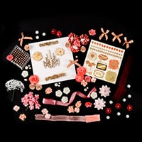 Dawn Bibby Pink Poppy Embellishment Collection - 19 Packs & 1 Pap-043587
