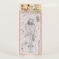 Which Craft? Wonky Tonk Angel DL Stamp Set - Hearts Come Home For-044258