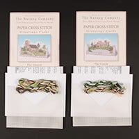 Nutmeg Pack of 2 Cross Stitch Card Kits-044855