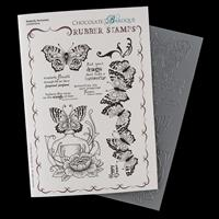Chocolate Baroque Butterfly Perfumery A5 Stamp Sheet-045114