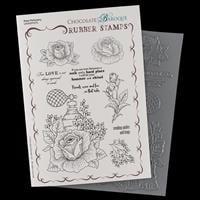 Chocolate Baroque Rose Perfumery A5 Stamp Sheet-045427