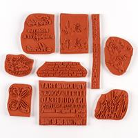 IndigoBlu Big Save Medium Bundle of Red Rubber Stamps-045738