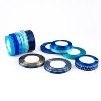 Set of 14 x Assorted Ribbon Reels - Blue Collection - 330yds Tota-046059