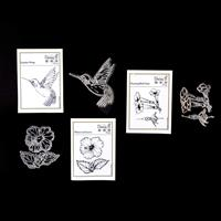 Daisy B Crafts Sapphire Wings, Hummingbird Feast & Hibiscus Stamp-046683