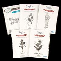 Creative Expressions 5 x Singles Stamp Sets - Perfect Poppy, Tuli-047219