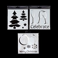 Imagine Design Create Festive Stencils - Celebrate, Trees & Baubl-047249
