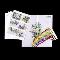 Gamma Daisies Ribbon Embroidery Kit - 25 x 19.5cm-047269