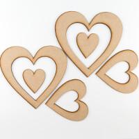 Dawn Bibby Set of 6 MDF Heart Wreaths & Plaques-048453