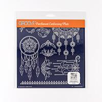 Groovi Plate A4 Square - Tina's Henna Dreamcatcher-049947