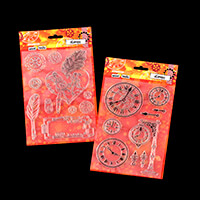 StudioLight 2 x Steampunk Mixed Media A5 Stamp Sets - 19 Stamps T-050799