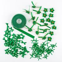 Assorted Ribbon Bundle In Green - 3 x Packs of Bows In & 1 x Ribb-052620