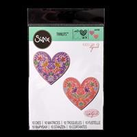 Sizzix® Thinlits Set of 10 Dies - Lace Heart by Katelyn Lizardi-053267