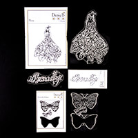 Nina Crafts Flora, Beauty and Butterfly Kisses Stamp Sets - 5 Sta-055310
