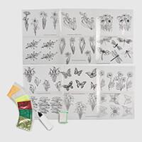 Glitter Greetings Flowers & Butterflies 12 Designer Acetates, 6 G-058251