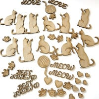 Dawn Bibby Laser Cut MDF Pet Embellishment Set-059576