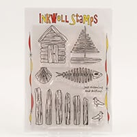 Inkwell Driftwood Oceans Stamp Collection  - Includes 8 Stamps-060493