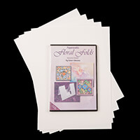 Robert Addams Floral Folds CD-Rom with 5 Sheets of Watercolour Pa-062545