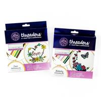 Threaders Embroidery Kit - Flutterby & Love-064825