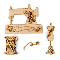Olifantjie Floral Sewing Machine MDF Kit - Makes 3 Projects-067364