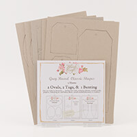 Which Craft? Grey Board Set 2 - Classic Tags and Ovals & Bunting-068810