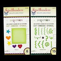 Spellbinders Shapeabilities 2 x Die Sets - Potpourri & Keyboard I-069333