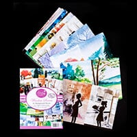 Dawn Bibby Pack of 70 A5 Window Scene Papers - 170gsm-069501