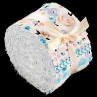 Fabric Freedom Strippers Watercolour Swirls Swiss Roll 20x2.5