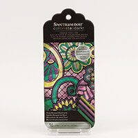 Spectrum Noir Colorista Dark Bookmark Pencil Pad - Floral Bouquet-072700