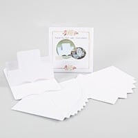 Which Craft? 10 Elegant Step Cards, 6 Pairs of Die Cut Ovals with-073208