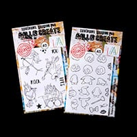 AALL & Create 2 x Stamp Sets - Rocking Corns and Quirks - 30 Stam-079890